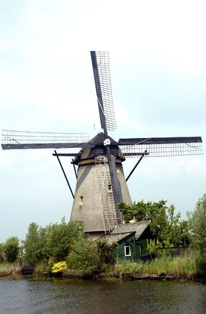 Nederlandse windmolen Stockfoto