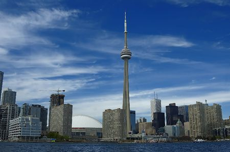 Skyline view of Toronto Downtown from the ocean Stock Photo - 603108