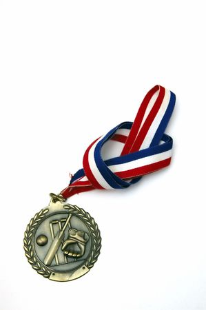 Sports Medal with a knot against a white background