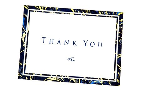 Thank You note captured using the natural light
