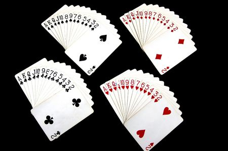 Cards in a deck are arranged in order. photo