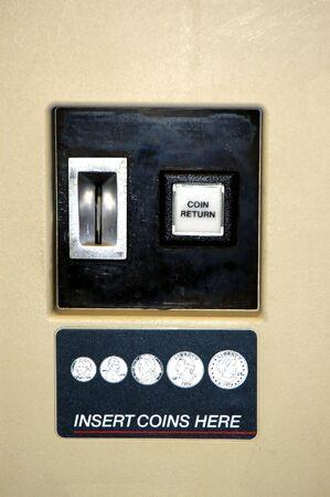 distributeur automatique: Gros plan sur l'image d'une machine distributrice Banque d'images