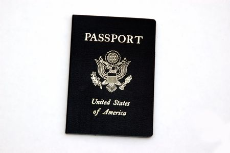 American Passport isolated against a white background Stock fotó