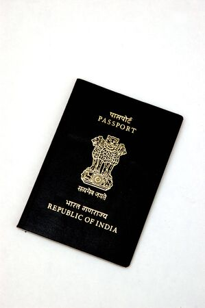 Indian Passport isolated against a white background photo