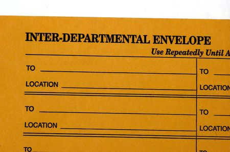 Interdepartmental Envelope Used For Interoffice Communication ...