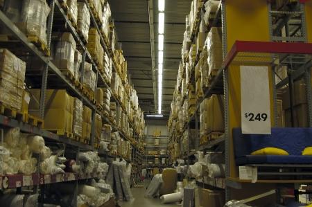 Interior shot of a local warehouse retailer photo