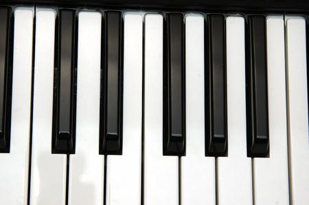 Close up shot of keys of a piano