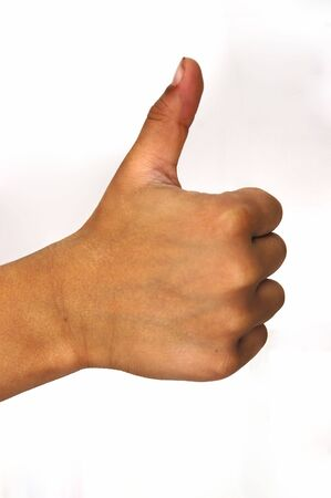 Thumbs up isolated on a white background