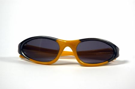 A pair of cooling glasses against a white background Stock Photo - 706960