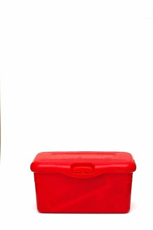 Red Diaper wipes box against a white background Stock Photo - 720607