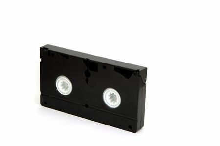 superseded: A VHS Tape isolated against a white background Stock Photo