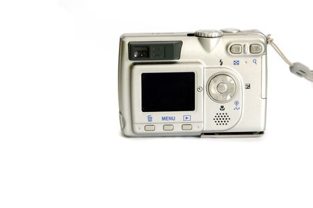 Digital Camera isolated against a ahite background