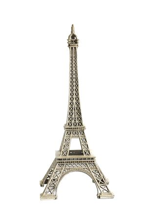 A replica of Eiffel tower isolated against
