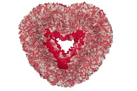 A Valentine gift isolated against a white background