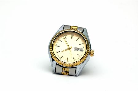 A Wrist watch isolated against a white background