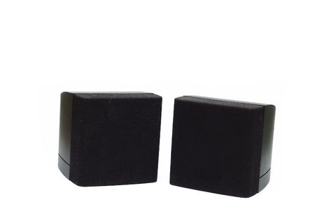 A pair os speakers isolated against a
