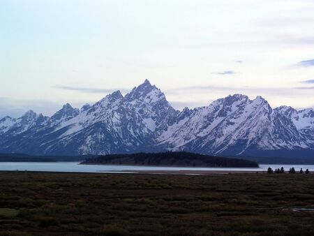 Grand Teton Mountains on a bright summer day