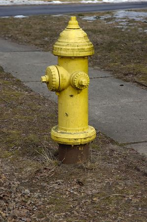 An Yellow fire hydrant bit rusted Stock Photo - 789222