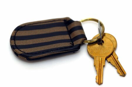 Pair of keys isolated on a white background Stock Photo - 789330