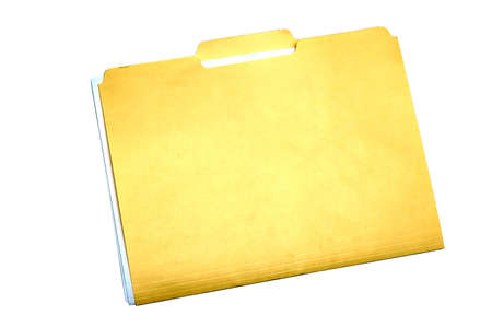 Yellow file folder isolated on white background