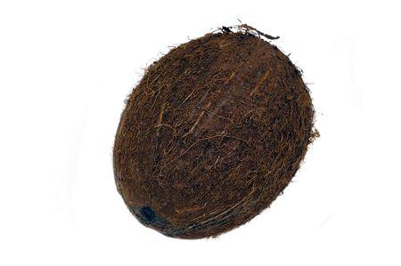 Noix de coco fruits isolé sur un fond blanc Banque d'images - 859096
