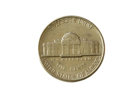 An american coin isolated against a white background photo