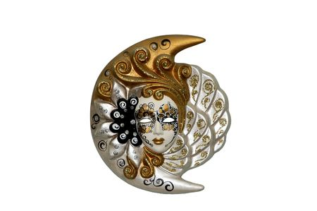 A Female Venetian Mask isolated on a white background
