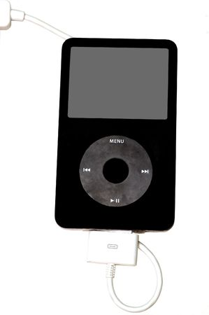 A mp3 player isolated on a white background Stock Photo