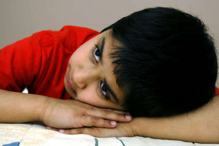 A handsome young boy dreaming about his future Stock Photo - 898995