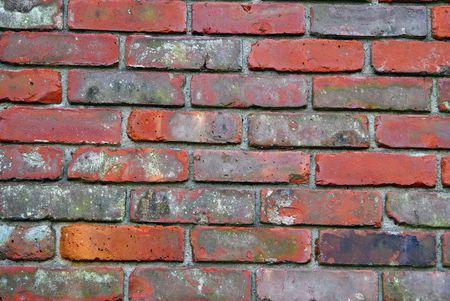 Closeup shot of an old brick wall Imagens