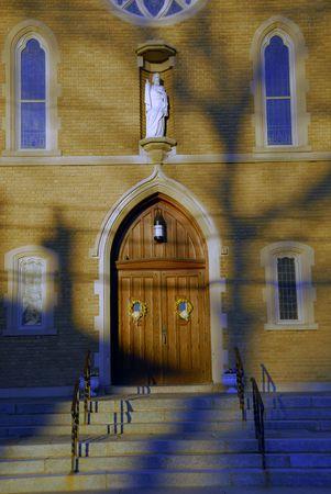 Door at an old roman catholic church Stock Photo - 982102