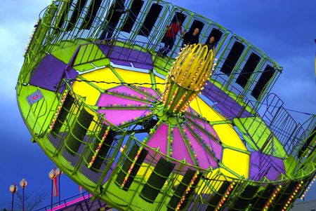 A merry go around at a local carnival Stock Photo - 982105