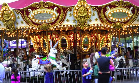 Young children having fun at a local carnival Imagens - 982106