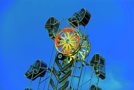 A merry go around at a local carnival Stock Photo - 982108