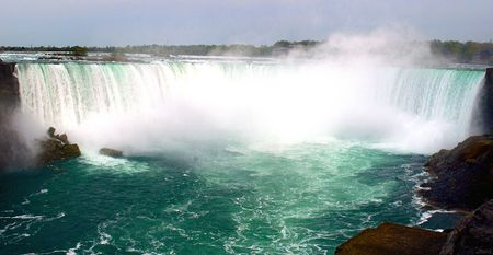 Beautiful Niagara falls with copyspace at the top Фото со стока