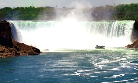 Beautiful Niagara falls with copyspace at the top Stock Photo