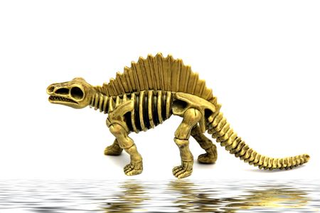 A model diaosaur isolated against a white background Stock Photo