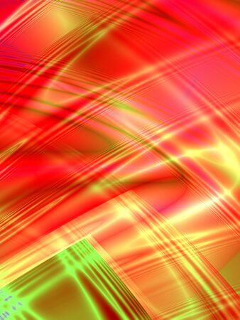 rendition: Fractal rendition of multi-colored curves