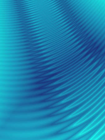 rendition: Fractal rendition of blue ripples back ground Stock Photo