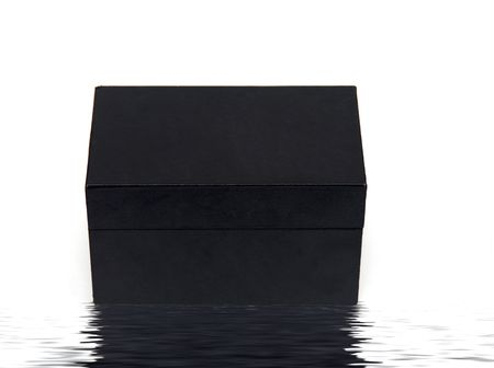 A black box isolated on a white background