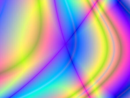 rendition: Fractal rendition of colored curves back ground