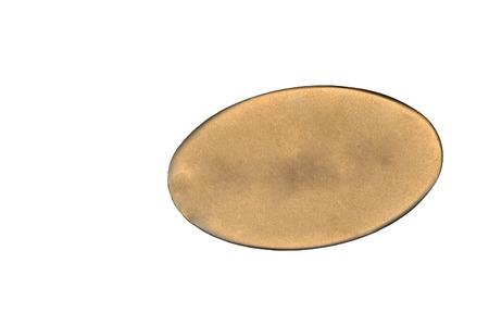 Metallic id tag isolated on white back ground Stock Photo - 1425631