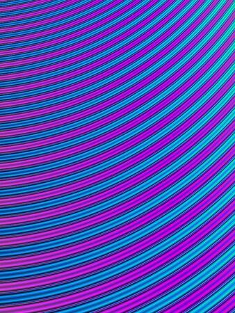 Interprétation fractale des courbes bleues et violettes sous la forme d'une eau qui coule Banque d'images - 1431483