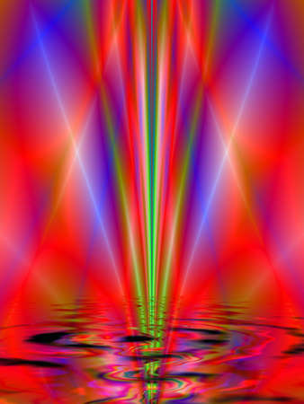 Fractal rendition of red ripples back ground Stock Photo - 1535065