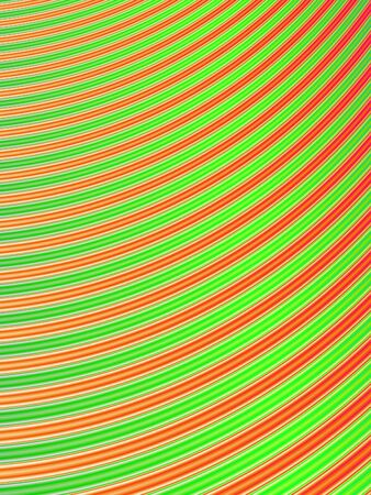 Fractal rendition of green and red curves in the form of a lawn photo