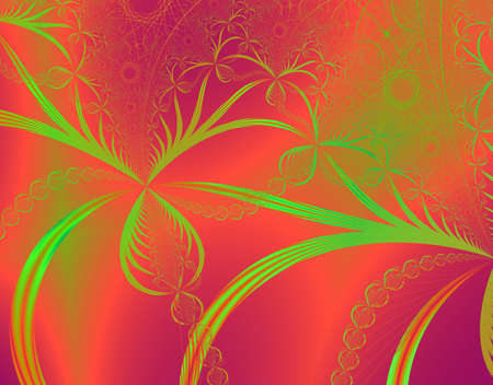 rendition: Fractal rendition of orange autumn color back ground Stock Photo