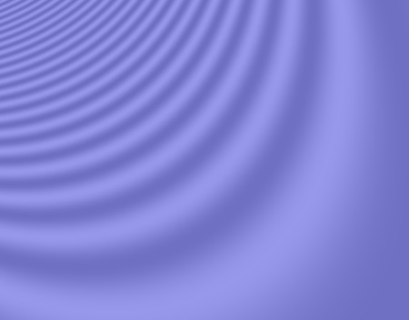Fractal rendition of sound traveling in a blue medium