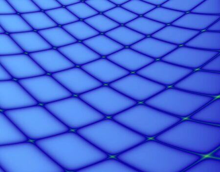 Fractal rendition of blue fishing net back ground