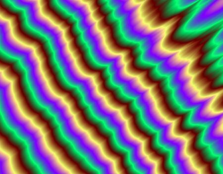 Fractal rendition of multi colored waves Stock Photo