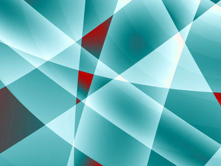 rendition: Fractal rendition of a blue metal back ground
